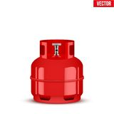 Propane Gas small cylinder. Vector Illustration Royalty Free Stock Image