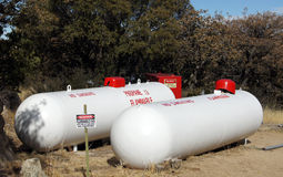 Propane Storage Tanks Stock Image