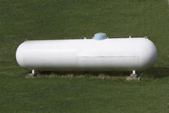 Propane Tank. A large tank for holding propane gas Stock Image