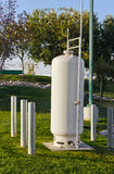 Propane Tank Pipeline Stock Photo