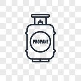 Propane tank vector icon isolated on transparent background, propane tank logo design. Propane tank vector icon isolated on transparent background, propane tank Royalty Free Stock Photos