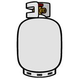 Propane Tank. A vector illustration of a propane tank Stock Images