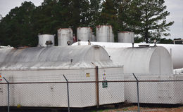 Propane tanks Stock Photo