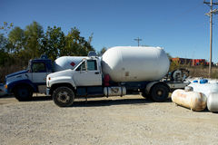 Propane Trucks Royalty Free Stock Images
