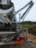Propelled concrete mixer with pump Royalty Free Stock Photos