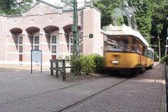 Propelled tram museum Royalty Free Stock Photos
