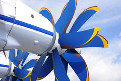Propeller. Coaxial the air screw of the plane Stock Image