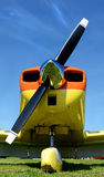 Propeller. Image of a small airplane and propeller Royalty Free Stock Images