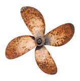 Propeller. Of the abandoned rusty ship, isolated on the white Stock Photography