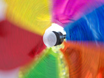 Propeller. Colour spiral blades using wind as a source of energy Royalty Free Stock Image