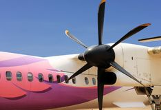 Propeller Air Plane Close Up View Royalty Free Stock Photography