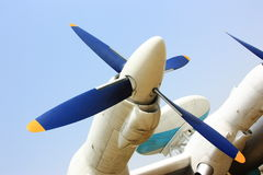 Propeller of air warning aircraft Stock Photo