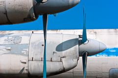 A propeller airplane Royalty Free Stock Image