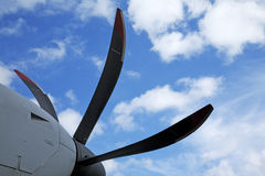 Propeller on airplane Royalty Free Stock Photos