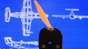 Propeller airplane stock footage