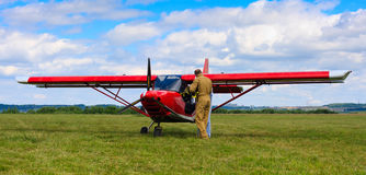 Propeller airplane Royalty Free Stock Photos
