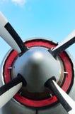 Propeller av flygplan från framdel Arkivbilder