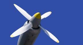 Propeller av militärt flygplan Royaltyfria Foton