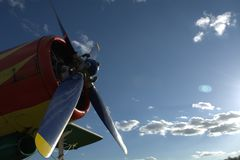 The propeller on a background of blue sky Stock Photography