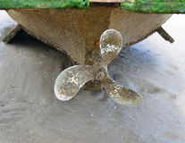 Propeller boat Stock Images