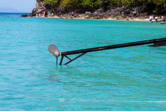 Propeller of boat transport travel. And sea Royalty Free Stock Photo