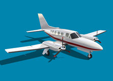 Propeller business aircraft. 3d rendering of Cessna Chancellor propeller airplane Stock Photography