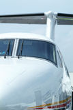 Propeller business aircraft stock image