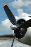Propeller close up. With clouds in the background Stock Images