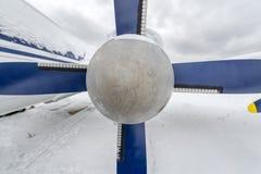 Propeller der Turbo-Prop-Nahaufnahme lizenzfreie stockfotografie