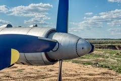 Propeller der Turbo-Prop-Nahaufnahme stockbild