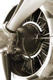 Propeller der Weinlese-DC3 Stockbild