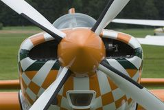 Propeller drive. Close up of aircraft with ropeller drive Stock Photos