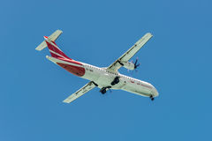 Propeller driven airplane for regional service ATR 72-500 Air Ma Stock Photos