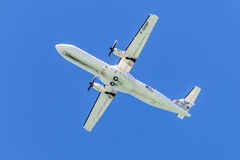 Propeller driven airplane for regional service - ATR 72-500 Stock Image