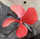 Propeller eines alten Bootes Lizenzfreies Stockfoto
