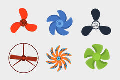 Propeller fan vector wind ventilator equipment air blower cooler rotation technology power circle. Stock Photos