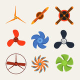 Propeller fan vector wind ventilator equipment air blower cooler rotation technology power circle. Stock Photography