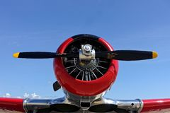 Propeller fighter plane. World War 2 American Propeller fighter plane Royalty Free Stock Photo