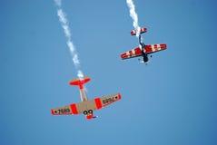 Propeller-Flugzeug-Aerobatic Bildschirmanzeige Lizenzfreie Stockbilder