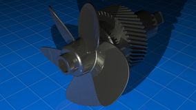 Propeller with gear Stock Photography