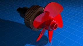 Propeller with gear Stock Photo