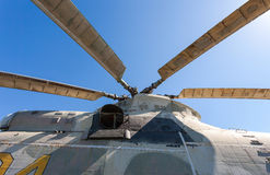 Propeller of helicopter Royalty Free Stock Photo