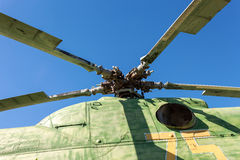 Propeller of helicopter Stock Photo