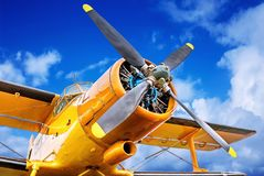 Propeller. Of an historical aircraft Royalty Free Stock Photos