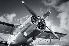 Propeller. Of an historical aircraft Royalty Free Stock Photo