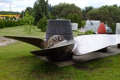 Propeller of large-capacity ships USSR on grounds of weaponry Stock Photography