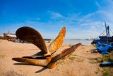The propeller. Many of the propeller on the shore Royalty Free Stock Photography