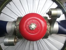 Propeller. Means by propeller blades rotate in the air or water, the engine power is converted into rotational propulsion device may have two or more leaves and Royalty Free Stock Photos
