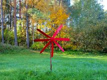 Propeller in the middle of a forest glade. stock images