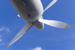 Propeller of military aircraft stock images